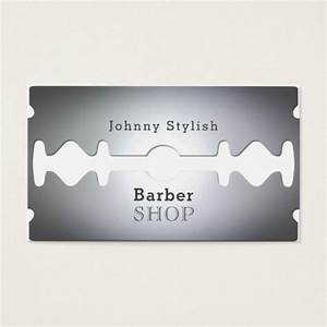 Razor blade barber shop inspired cover business card for Personal barber business cards