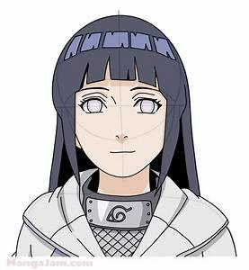 How to Draw Hinata from Naruto - Mangajam.com