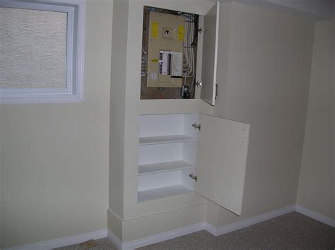 Cover For Fuse Box In House by Idea To Hide The Electric Box Basement And Laundry