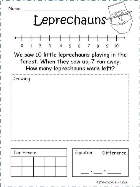 subtraction problem solving  kindergarten bing images