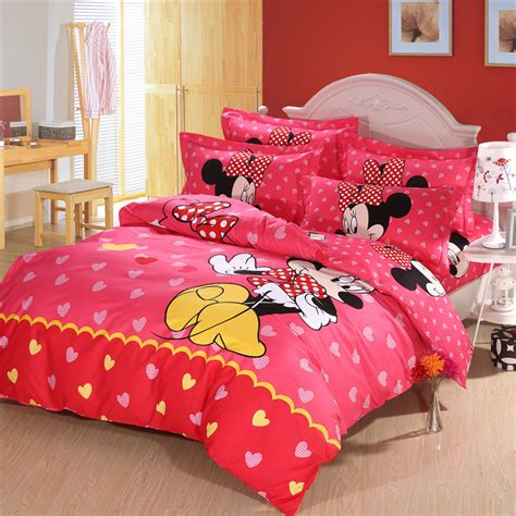 top size mickey mouse bedding minnie mouse bedding sets comforter cover sets for kid in
