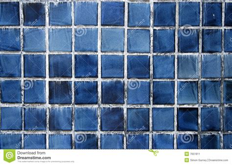 Blaue Fliesen Stockbild  Bild 7651811