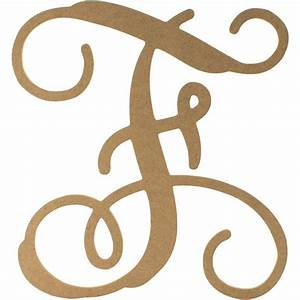 12quot wood letter vine monogram f ab2201 craftoutletcom With vine monogram wood letters