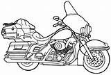 Coloring Motorcycle Pages Print sketch template