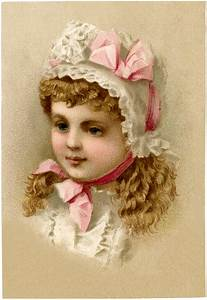 Vintage, Girl, With, Bonnet, Image