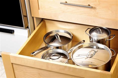 pots pans kitchen drawers inventory deep drawer cabinet organize them cabinets organization storage keep timeless never go pile ways space