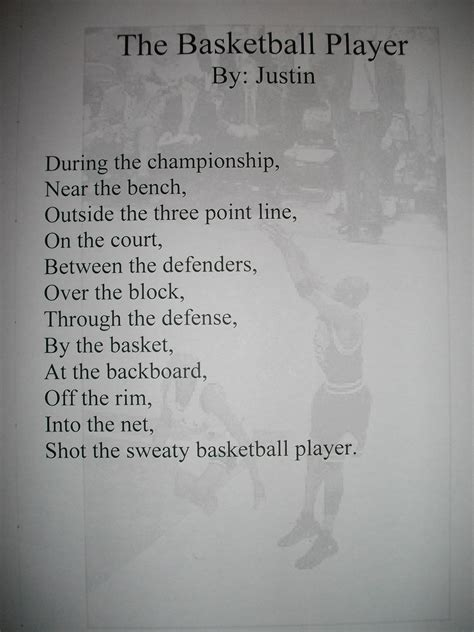 viewing gallery  basketball poems  rhyme sports