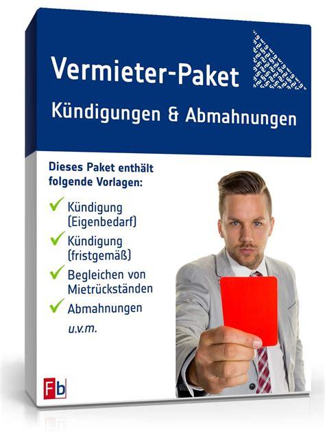 Als Vermieter Kündigen by Vermieter Paket K 252 Ndigung Abmahnung Muster Zum