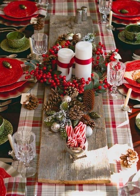 idees deco table de noel dcorations de nol lamricaine 57 ides en et vert 50 urbzsims