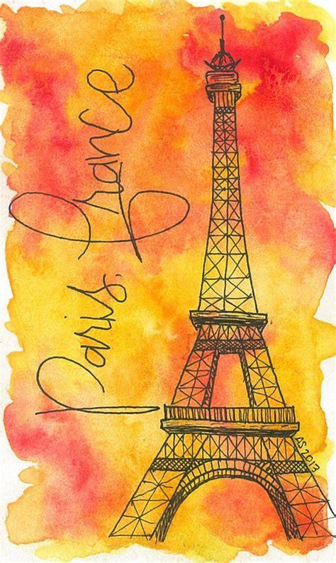items similar  paris france travel  watercolor art