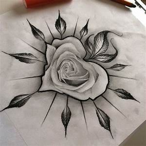 Drawn rose awesome - Pencil and in color drawn rose awesome