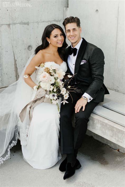 modern black  white wedding elegantweddingca