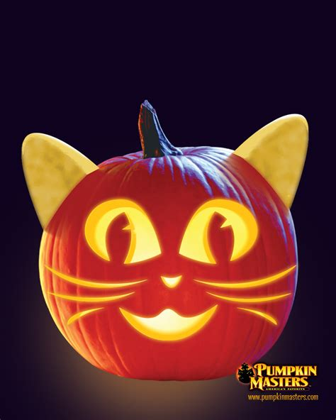 cat pumpkin ideas quot whiskers quot pattern from the pumpkin masters creature feature kit spooktacular pumpkins for
