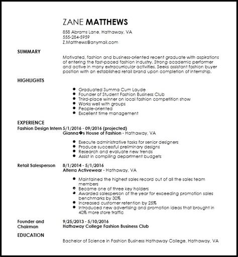 fashion intern resume best resume collection