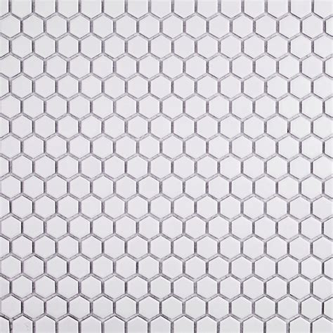 hexagon mosaic tile backsplash matte white hexagon ceramic tile tilebar com
