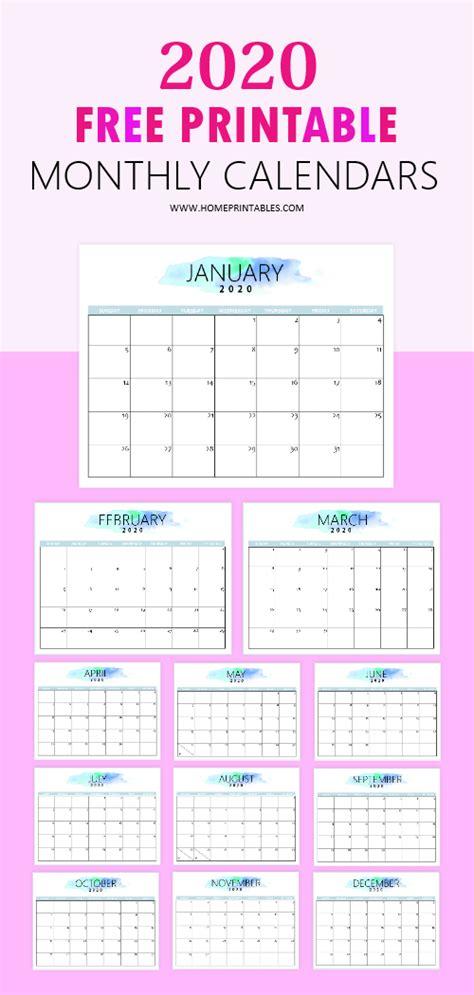 calendar printable simple pretty home