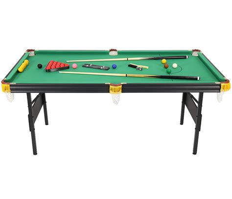 folding pool table 7ft 6ft 2 in 1 folding snooker pool table with billiard balls