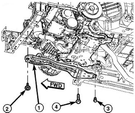 2002 Town And Country Transmission Diagram by 2008 Chrysler Town And Country Radiator Parts Diagram