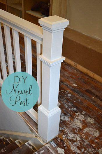diy newel post tutorial diy ideas   newel posts