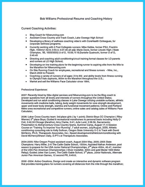 captivating   perfect  acceptable basketball coach resume
