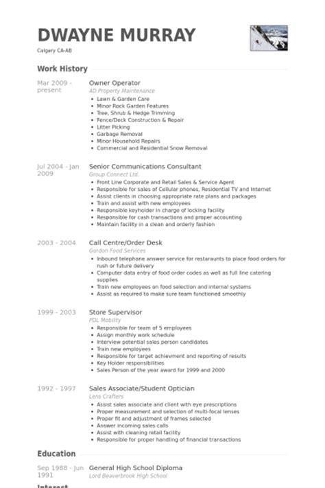 Grocery Store Owner Resume by Owner Operator Resume Sles Visualcv Resume Sles Database