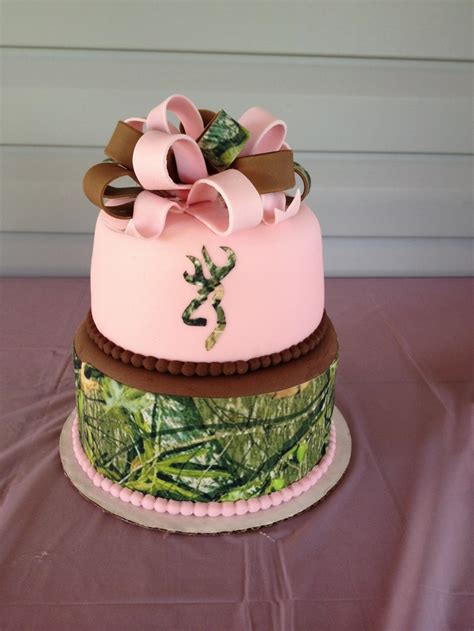 birthday cake fondant cake  mossy oak camoflauge
