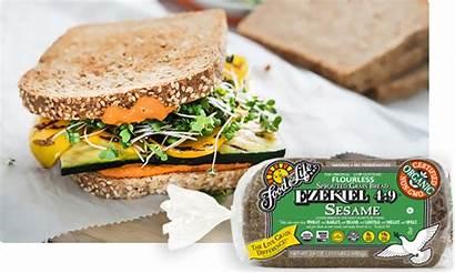 Sandwich Veggie Spread Pepper Ezekiel Sesame Sprouted