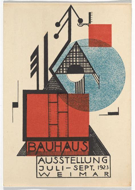 exuberant postcard art    bauhaus exhibition