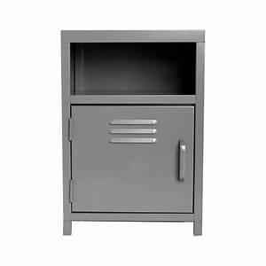 Table De Nuit Metal : table de chevet m tal karel 50cm gris ~ Carolinahurricanesstore.com Idées de Décoration
