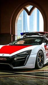 Wallpaper Lykan HyperSport, Police Car, Abu Dhabi, 4K