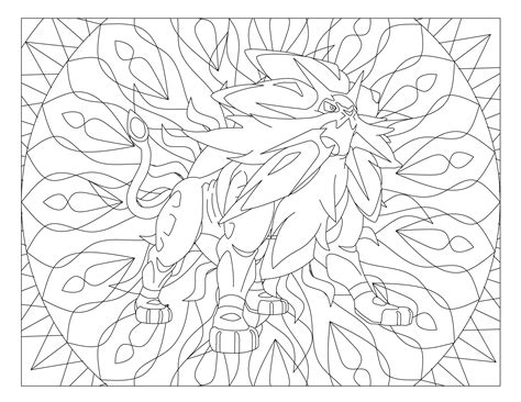 printable pokemon coloring page solgaleo visit