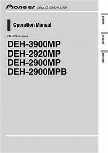 Pioneer Deh-2920mp Car Radio Download Manual For Free Now