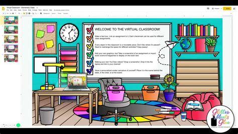 virtual classroom templates  teachers youtube