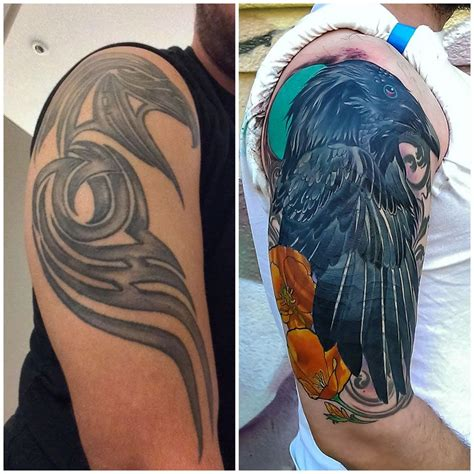 raven cover  tattoo  adam sky rose golds tattoo san