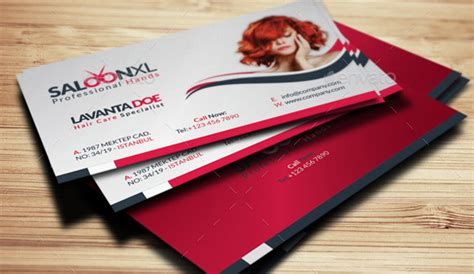 hair salon business card psds