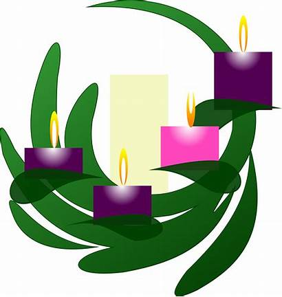 Advent Wreath Clip Sunday Clipart Candle Catholic