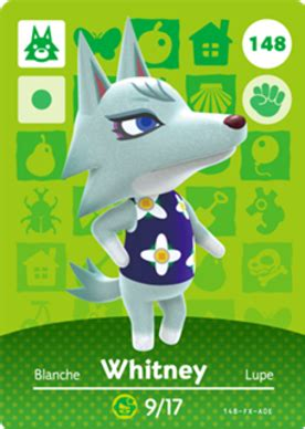 whitney animal crossing cards series  amiibo card