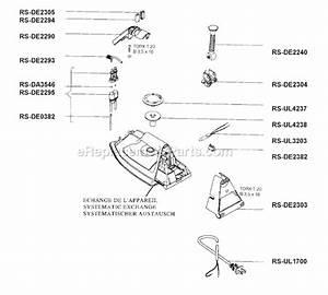 Rowenta De05 Parts List And Diagram   Ereplacementparts Com