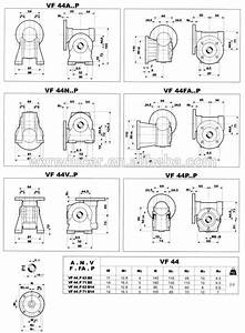 Vf Series Worm Gearboxes Size 30 44 49 63 72 Ratio Range 7