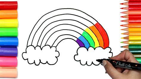 draw  rainbow coloring  chalkola chalk