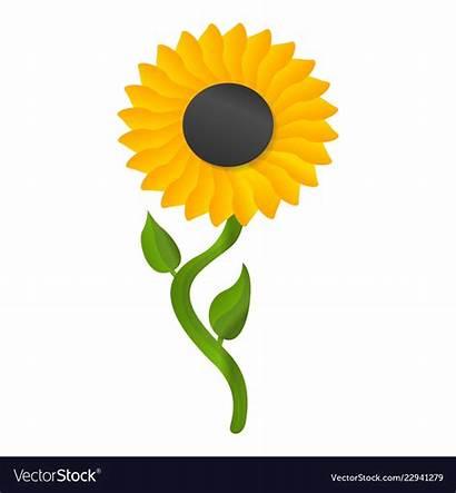 Sunflower Cartoon Vector Royalty Icon