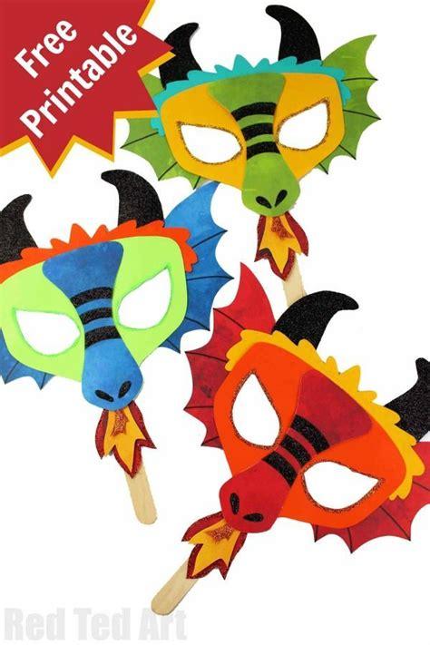 diy dragon mask printables dragon crafts chinese