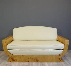 Canapé Art Déco : canap art d co en loupe d 39 orme meubles art d co ~ Dode.kayakingforconservation.com Idées de Décoration
