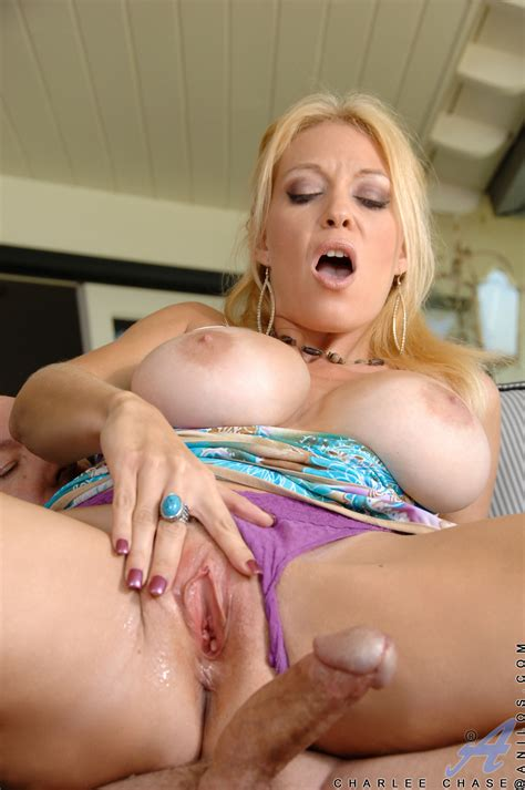 Bosomed Housewife Charlee Chase Takes Messy Cumshot On Her