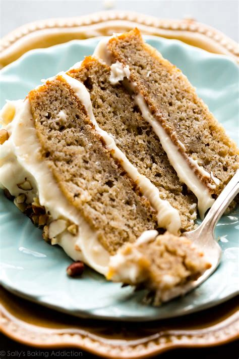 banana cake  brown butter cream cheese frosting