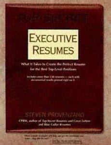 Top Secret Executive Resumes by Top Secret Executive Resumes Free Ebooks