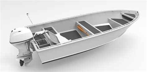 Skiff Boat Drawings by 14 Foot 4 3m Skiff Utility Metal Boat Kits