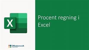 Procentregning I Excel