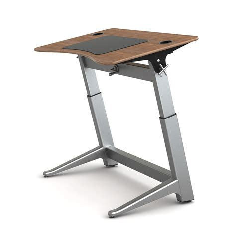 stand up computer desk on wheels portable stand up computer workstation with caster wheels