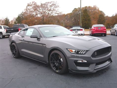 ford mustang shelby gt  lead foot gray black
